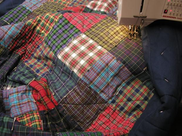 Follow our guide to make patchwork tartan Blanket here.